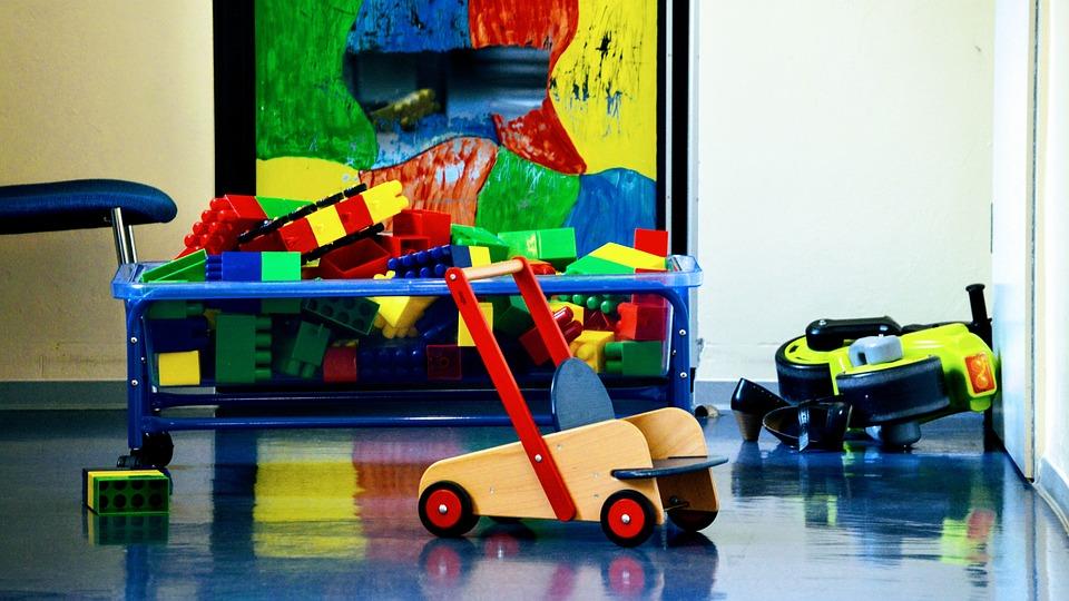 Spielzeug, Kindergarten, Kindertagesstätte, Bauklötze