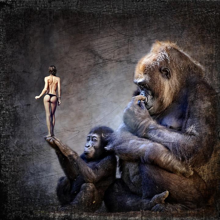 Ape nude women art