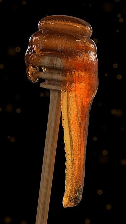 Honig Honigstab Honigloffel Suss Sommer Trub Gold