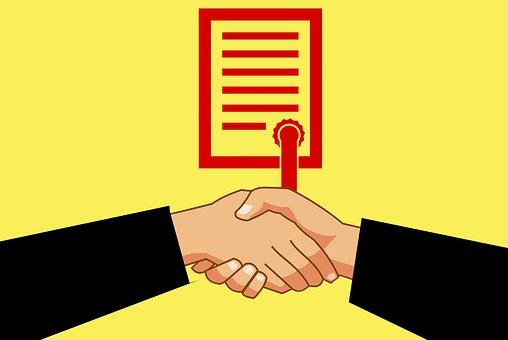 証明書, 紙, 人, 達成, 契約, 賞を受賞, ビジネス, 漫画, 協力