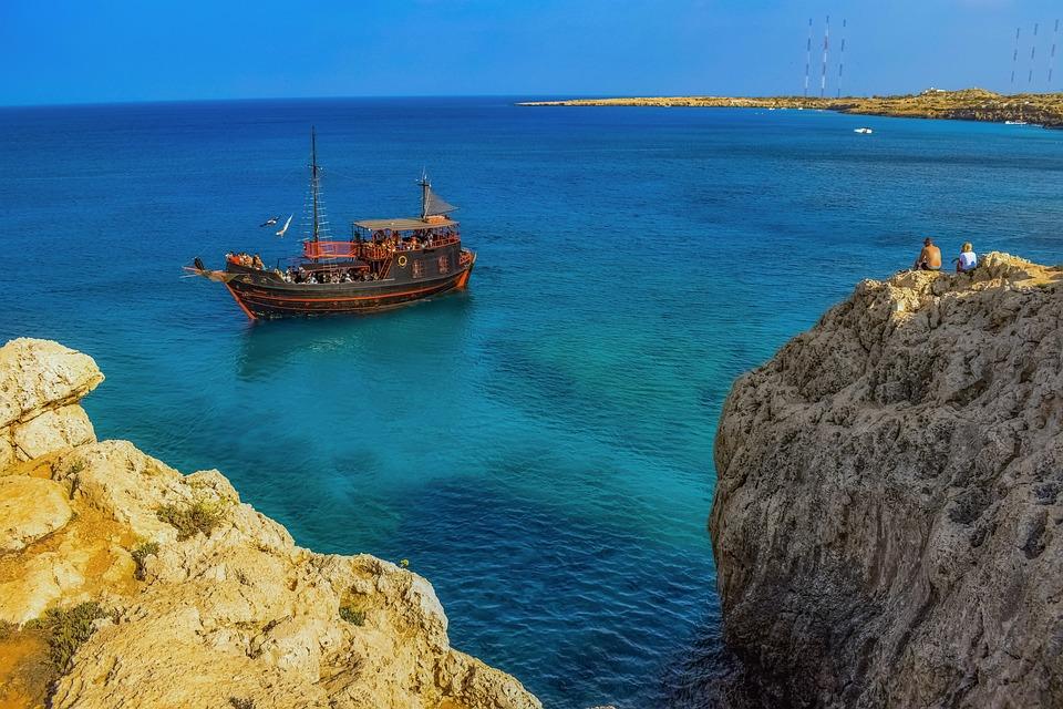 Cyprus, Cavo Greko, Nature, Landscape, Rock, Sea, Cliff