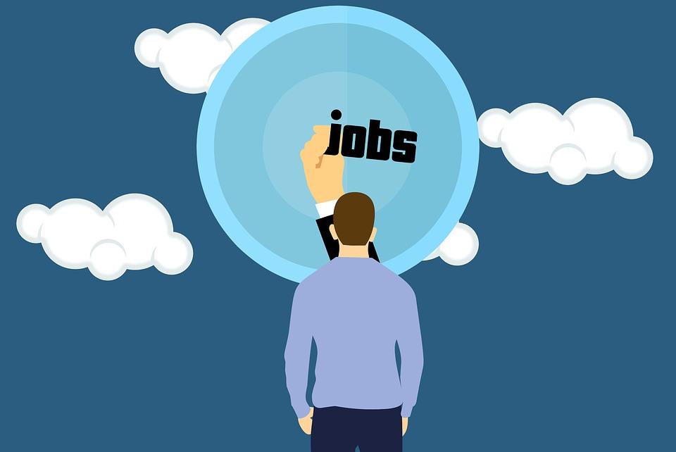 Job, Dream, Man, Seeker, Business, Cloud, Composition