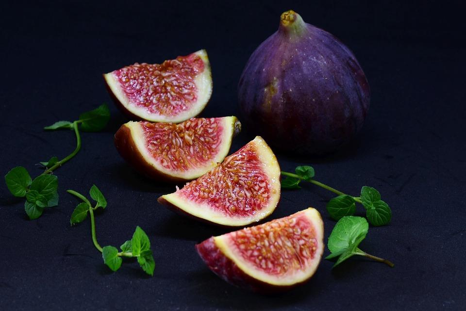 Fig, Sliced, Dessert, Fruit, Healthy, Food, Cut In Half