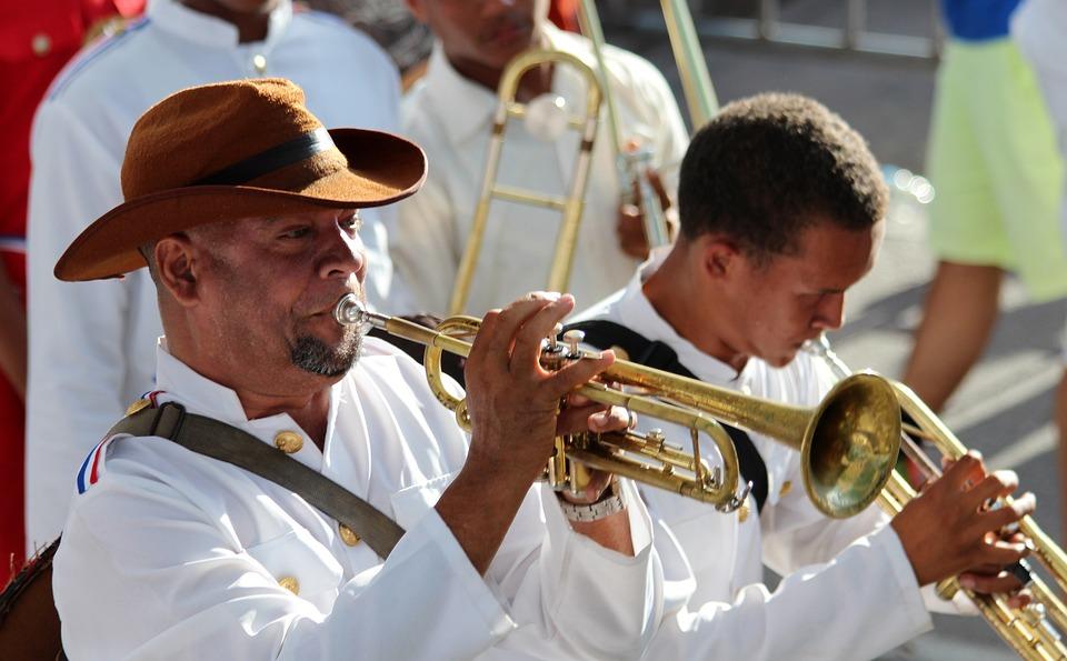 Musicien, Hommes, Jouer, Musique, Trompette, Carnaval