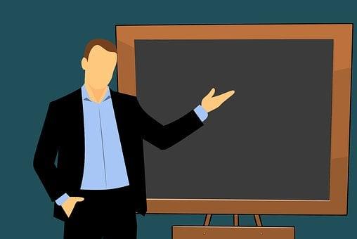 先生, 漫画, ボード, 黒板, クラス, 人, 教育, チョーク, レッスン