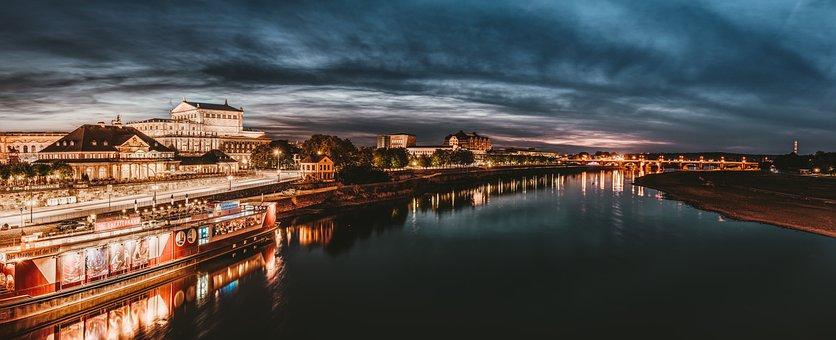 Дрезден, Эльба, Исторический Центр