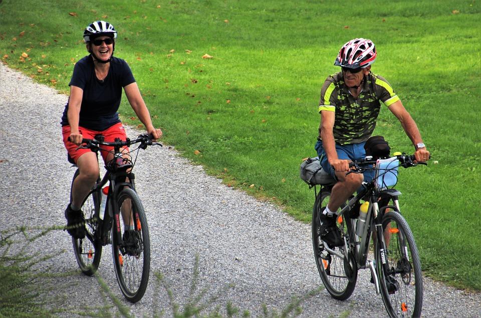 Cykel, Tillsammans, Två, Äventyr, Lycklig, Människor