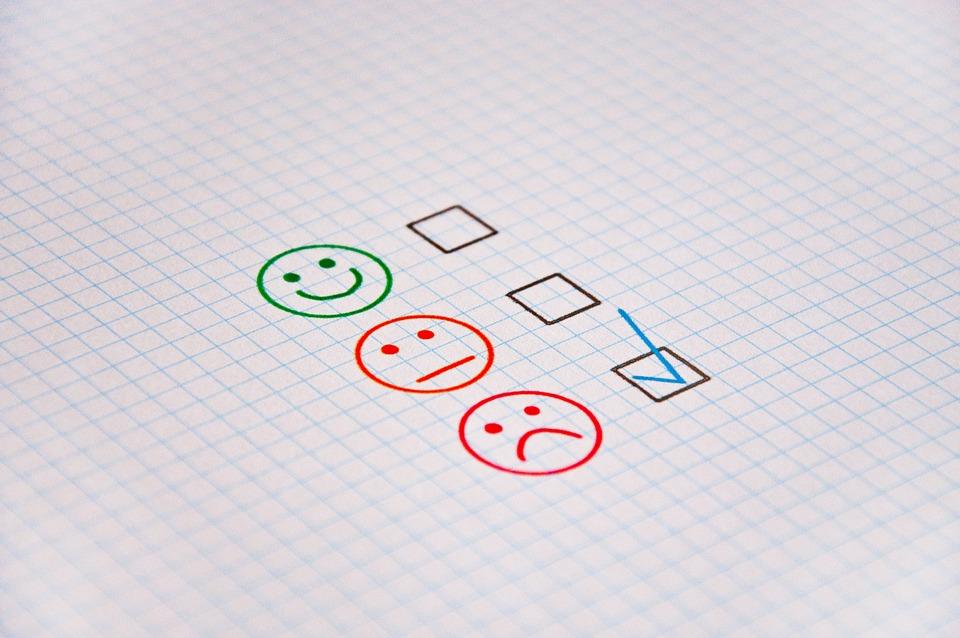 Feedback, Review, Gut, Bad, Satisfactory, Positive