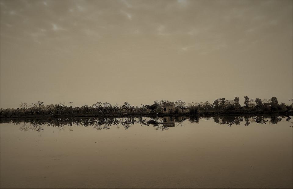 Pemandangan, Feng Shui, Kolam, Tenang, Pagi, Langit