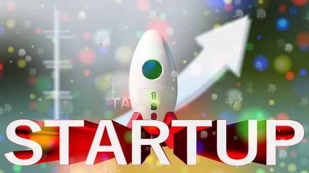 起業家, 開始, ロケット, 飛行経路, 宇宙, スター, スペース