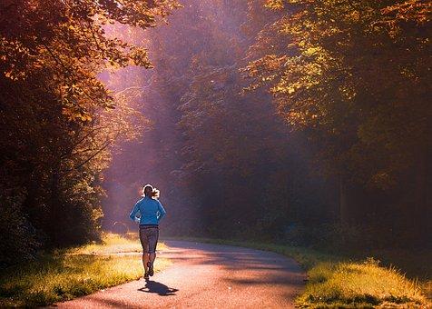 Running, Woman, Morning, Girl, Walk