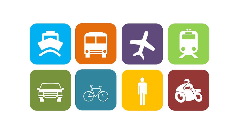Transportation, Mobility, Vehicle, Boat, Bus, Plane