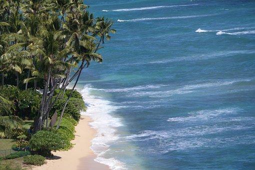 Honolulu, Hawaii, Pacific, Beach, Ocean