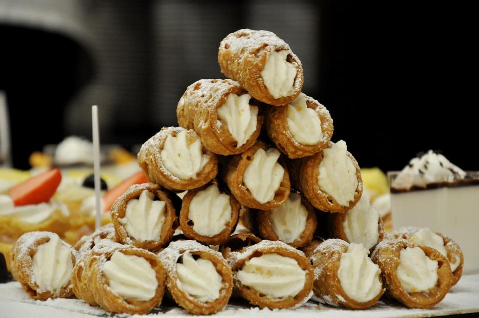 Sycylijskie Cannoli, Słodycze, Deser, Ricotta