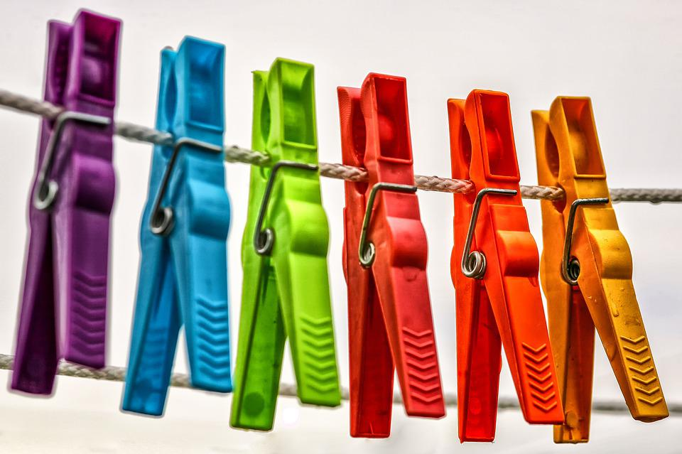 洗濯バサミ, 綱, 服のライン, 洗濯はさみ, ハング, 予算, 乾燥, ジャム, カラフル, クリップ, 外