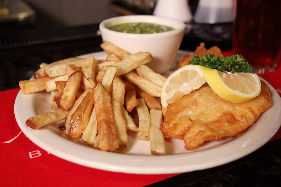 Food, Fish, Chips, Fish And Chips, Plate, Restaurant