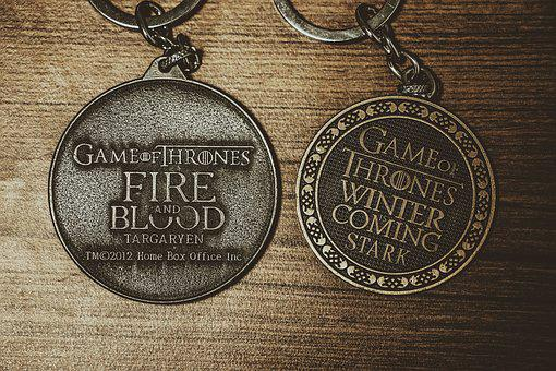 Keychain, Game Of Thrones, Table