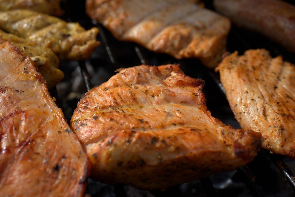 肉, グリル, ステーキ, バーベキュー, グルメ, 焼き, 食べる, 新鮮, 恩恵を受ける, 食事, 食品