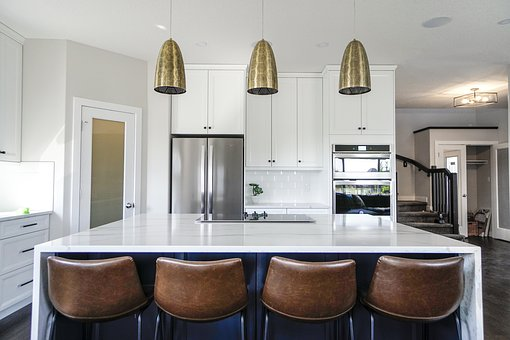 Kitchen, Bar Stools, Decor, Apartment