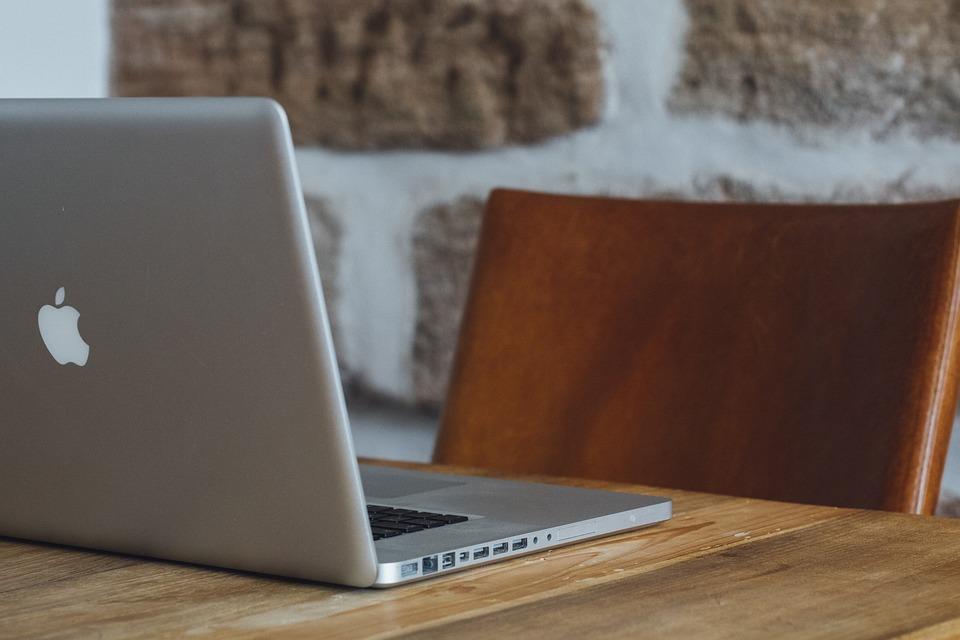 オフィス, コンピューター, 創造的です, 技術, デスク, 仕事, アップル, デザイナー