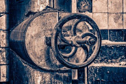 Valve, Wheel, Industry, Old, Metal