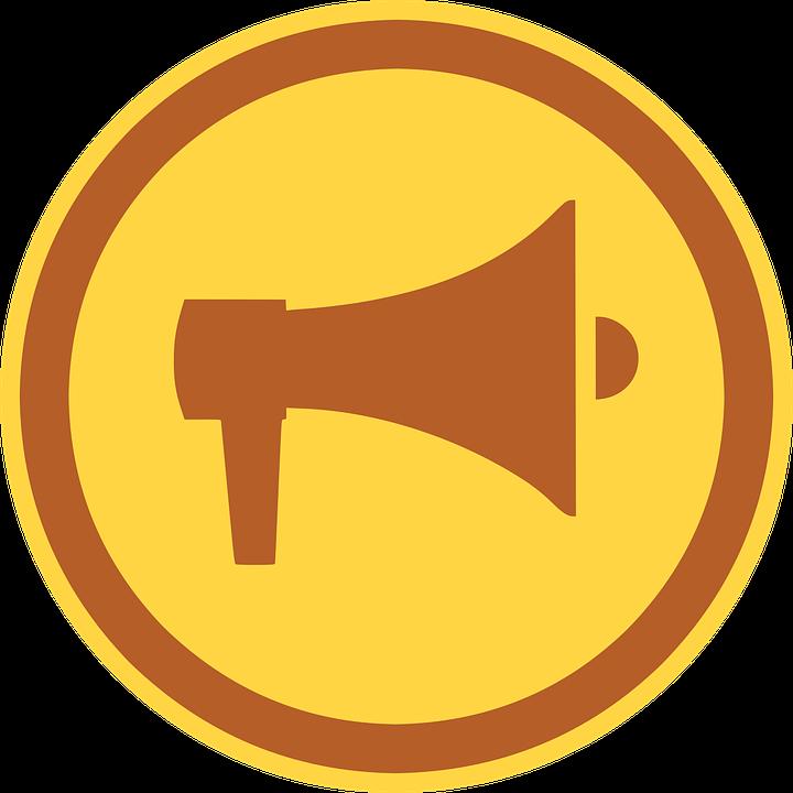 megaphone bullhorn icon free vector graphic on pixabay