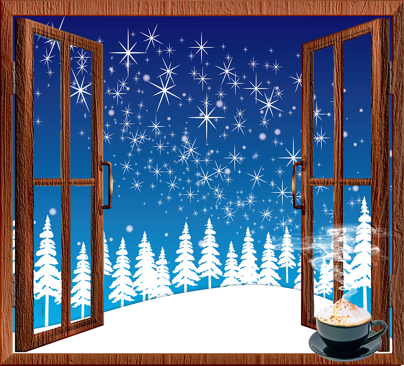 Christmas Window.Christmas Window Snow Winter Free Image On Pixabay