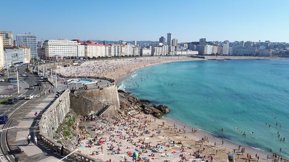 A Coruña, Playa, Galicia, Mar, España, Paisaje