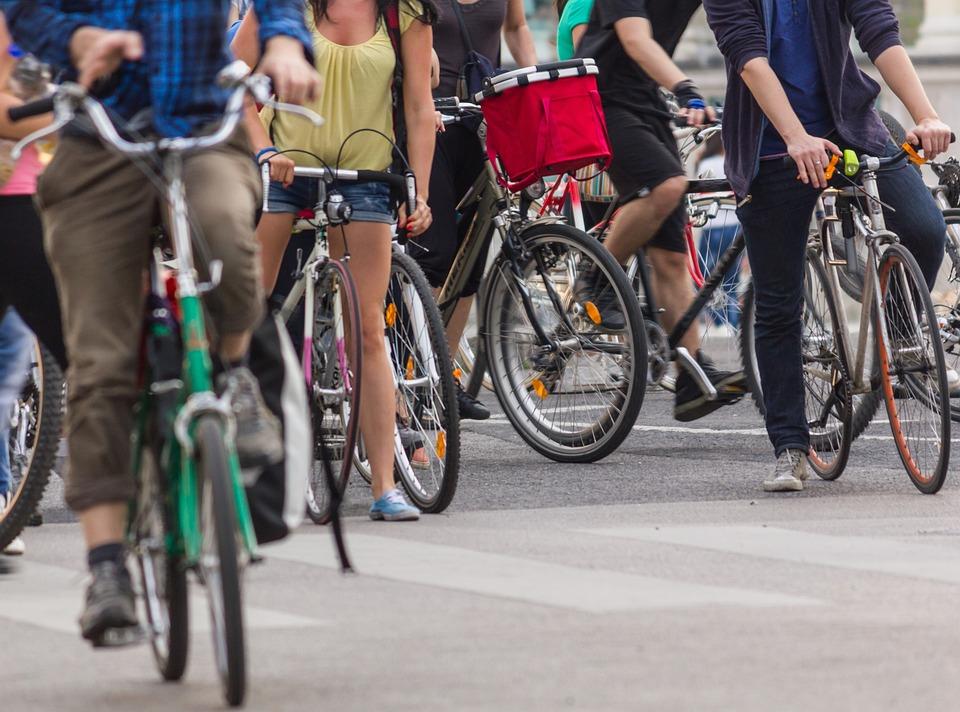 Stadt Radfahren, Räder, Menschen, Fahrrad, Radfahren
