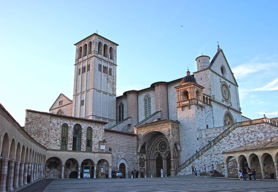 Assisi, Umbria, Basilica, San Francesco, Pellegrinaggio