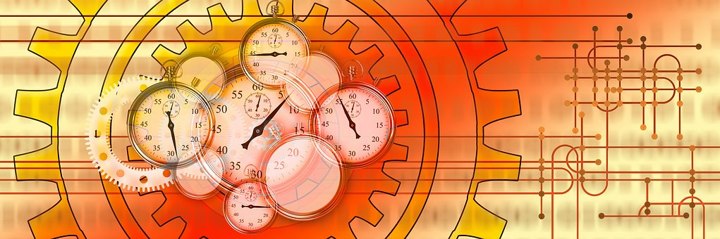 Cronômetro, Engrenagens, Trabalho, Tempo de Trabalho