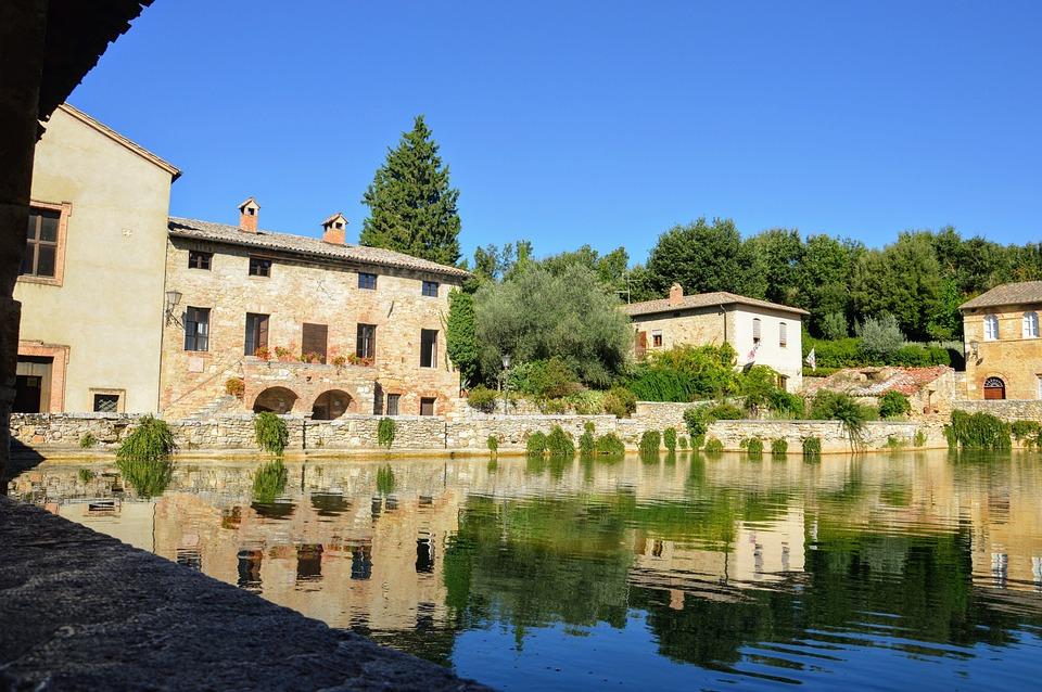 Bagnovignoni, Bagno Vignoni, Toscana, Val D'Orcia