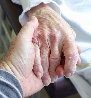 Hand, Aged, Care, Sympathy, Senior