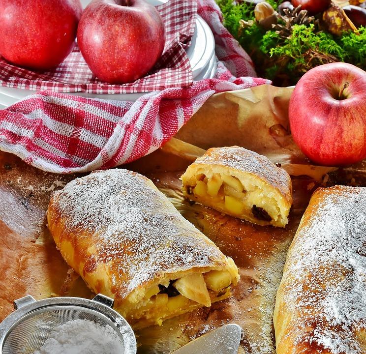 Strudel, Strudel Di Mele, Apple, Frutta, Dessert