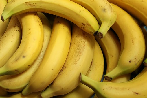 Bananas, Fruit, Food, Fresh, Mature