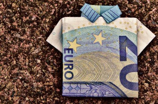 一枚看板, ドル紙幣, 20 ユーロ, 2 つ折り, ギフト, お金, 通貨