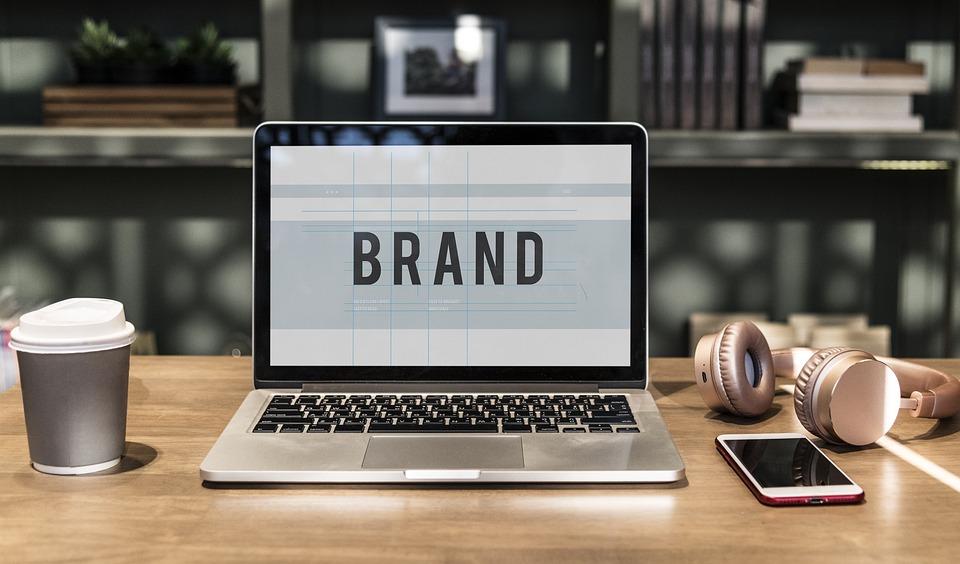 広告, ブランド, ブランディング, 商業, コンピュータ, コンセプト, 接続, コピー スペース