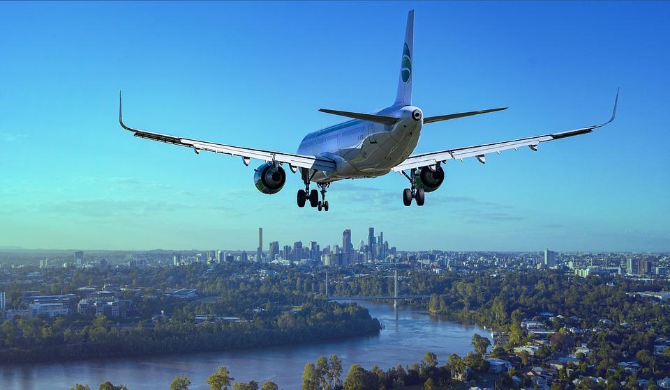飛行機, フライト, 市, 着陸, 川, ボーイング, 航空機, トラベル, 飛行, 空, 旅客機, 航空