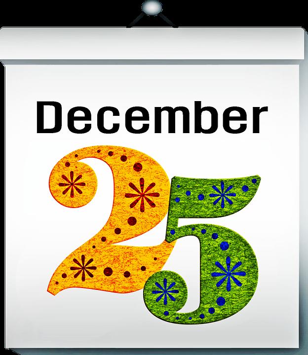 calendar december 25 christmas free image on pixabay