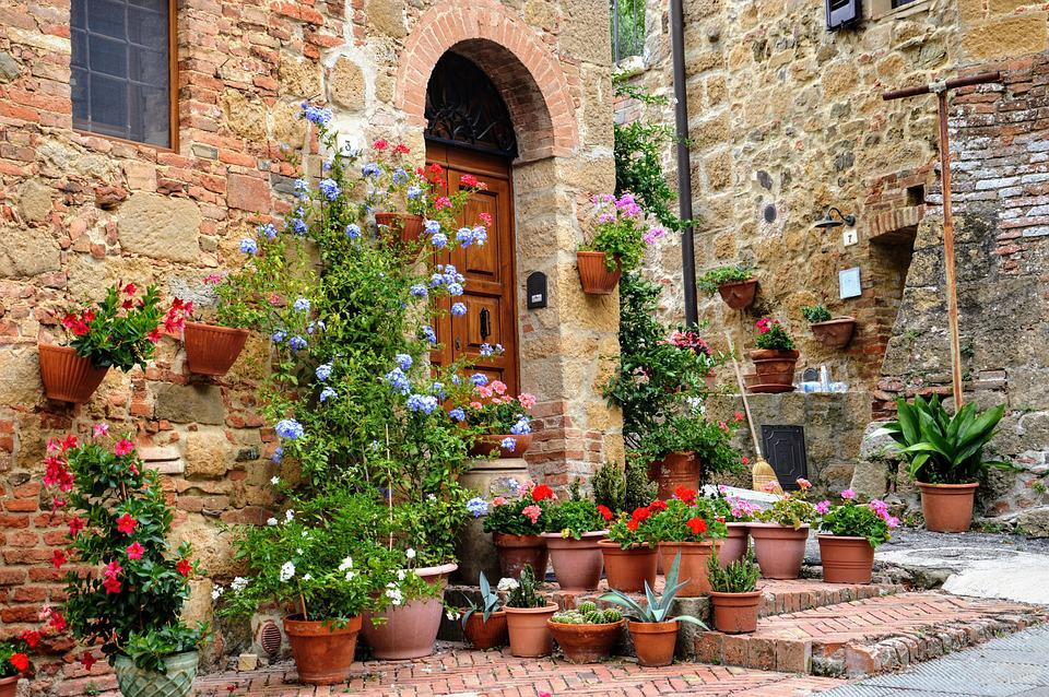 Tuscany Flowers House Free Photo On Pixabay