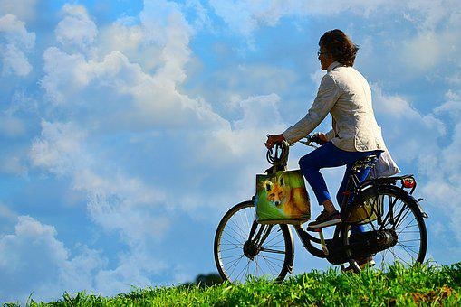Woman, Person, Cyclist, Bicycle