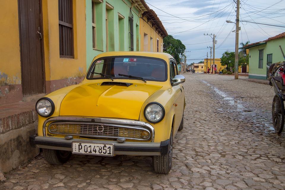Kuba Auto Gelbes Altes Kostenloses Foto Auf Pixabay