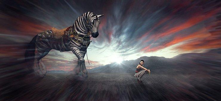 Fantasy, Horse, Woman, Landscape