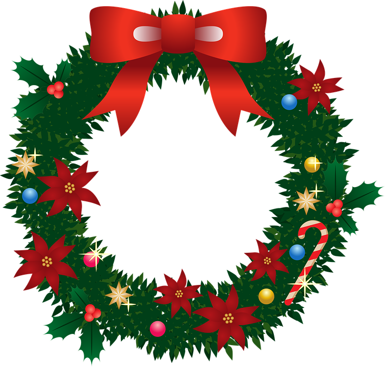 Weihnachtskranz, Weihnachten, Weihnachtsstern