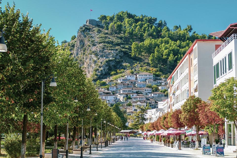 Берат, Албания, Старый, Город