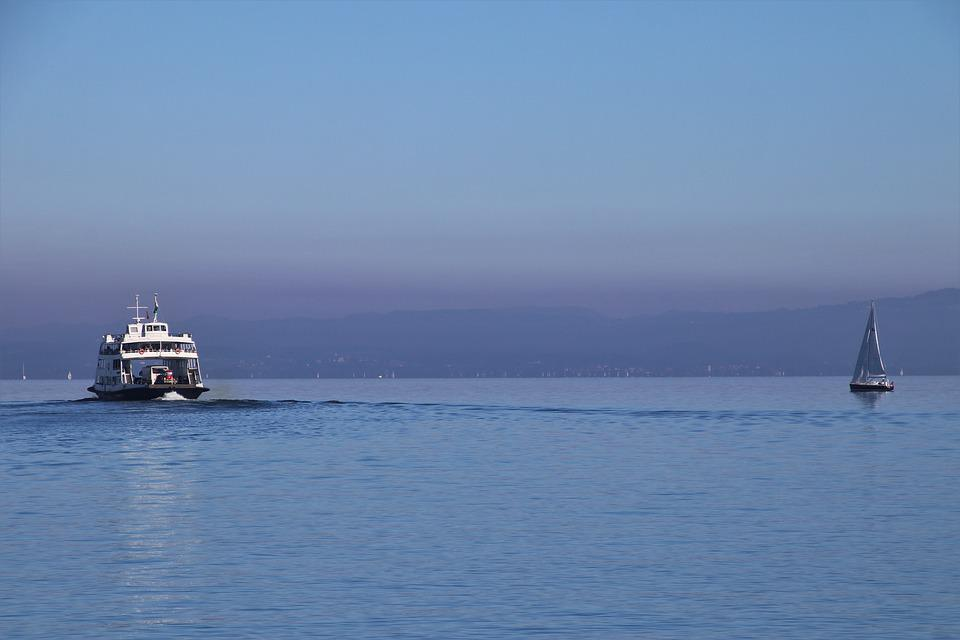 On The Water, Lake, Ferry, Sailboat, Boat, The Silence