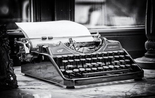 Typewriter, Write, Tap, Keys, Paper