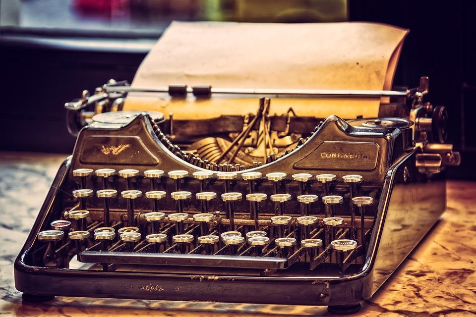 Machine À Écrire, Robinet, Bureau, Écrire, Nostalgie