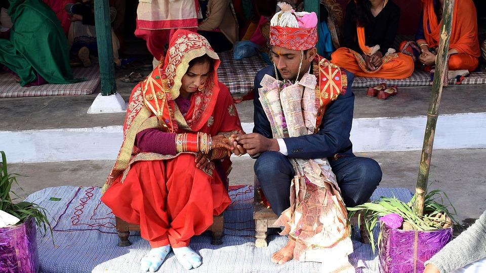 Индийская, Свадьбы, Невеста, Брак, Золото, Азиатских