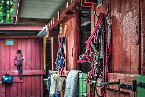 Stable, Box, Red, Green